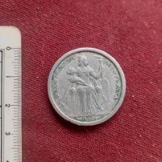 Monete antiche di Oceania: ESTABLECIMIENTOS FRANCESES DE OCEANÍA 2 FRANCS 1949. Lote 240714645