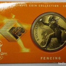 Monedas antiguas de Oceanía: AUSTRALIA 2000, 5 DOLLARS DE LAS OLIMPIADAS DE SIDNEY. FENCING. LOTE 3684. Lote 244406890