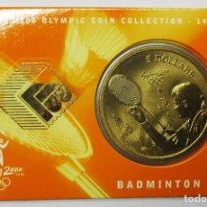 Monedas antiguas de Oceanía: AUSTRALIA 2000, 5 DOLLARS DE LAS OLIMPIADAS DE SIDNEY. BADMINTON. LOTE 3685. Lote 244407525