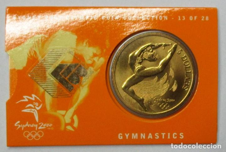 AUSTRALIA 2000, 5 DOLLARS DE LAS OLIMPIADAS DE SIDNEY. GYMNASTICS. LOTE 3686 (Numismática - Extranjeras - Oceanía)