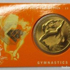 Monedas antiguas de Oceanía: AUSTRALIA 2000, 5 DOLLARS DE LAS OLIMPIADAS DE SIDNEY. GYMNASTICS. LOTE 3686. Lote 244408970