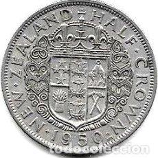 Monedas antiguas de Oceanía: MONEDA NUEVA ZELANDA 12 CORONA ANO 1950 JORGE VI MUY BUENA. Lote 244369115