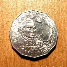 Monedas antiguas de Oceanía: MONEDA DE AUSTRALIA 50 CENTS 1970 CONMEMORATIVA. Lote 244383660