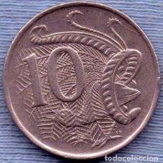 Monedas antiguas de Oceanía: AUSTRALIA 10 CENTS 1980 AVE LIRA. Lote 244384335