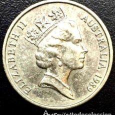 Monedas antiguas de Oceanía: ONESMILE MONEDA DE AUSTRALIA 10 CENTAVOS 1989. Lote 244385105