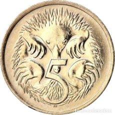 Monedas antiguas de Oceanía: AUSTRALIA 5 CENTS 1980 OSO HORMIGUERO. Lote 244391500