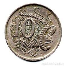 Monedas antiguas de Oceanía: AUSTRALIA MONEDA 10 CENTS ANO 1966 KM61. Lote 244391790