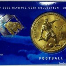 Monedas antiguas de Oceanía: AUSTRALIA 2000, 5 DOLLARS DE LAS OLIMPIADAS DE SIDNEY. FOOTBALL. LOTE 3687. Lote 244508365