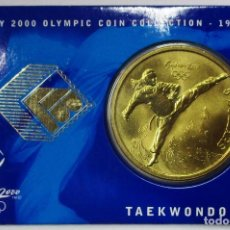 Monedas antiguas de Oceanía: AUSTRALIA 2000, 5 DOLLARS DE LAS OLIMPIADAS DE SIDNEY. TAEKWONDO LOTE 3688. Lote 244509030