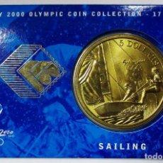 Monedas antiguas de Oceanía: AUSTRALIA 2000, 5 DOLLARS DE LAS OLIMPIADAS DE SIDNEY. SAILING. LOTE 3690. Lote 244510025
