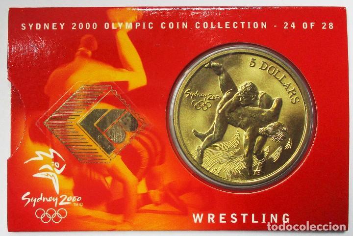 AUSTRALIA 2000, 5 DOLLARS DE LAS OLIMPIADAS DE SIDNEY. WRESTLING. LOTE 3691 (Numismática - Extranjeras - Oceanía)