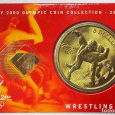 Monedas antiguas de Oceanía: AUSTRALIA 2000, 5 DOLLARS DE LAS OLIMPIADAS DE SIDNEY. WRESTLING. LOTE 3691. Lote 244510545