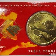 Monedas antiguas de Oceanía: AUSTRALIA 2000, 5 DOLLARS DE LAS OLIMPIADAS DE SIDNEY. TABLE TENNIS. LOTE 3692. Lote 244510945