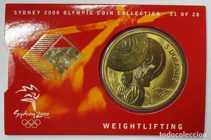 AUSTRALIA 2000, 5 DOLLARS DE LAS OLIMPIADAS DE SIDNEY. WEIGHTLIFTING. LOTE 3694 (Numismática - Extranjeras - Oceanía)