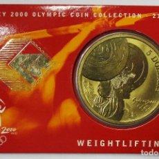 Monedas antiguas de Oceanía: AUSTRALIA 2000, 5 DOLLARS DE LAS OLIMPIADAS DE SIDNEY. WEIGHTLIFTING. LOTE 3694. Lote 244511425