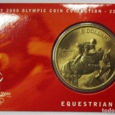 Monedas antiguas de Oceanía: AUSTRALIA 2000, 5 DOLLARS DE LAS OLIMPIADAS DE SIDNEY. EQUESTRIAN. LOTE 3693. Lote 244512465