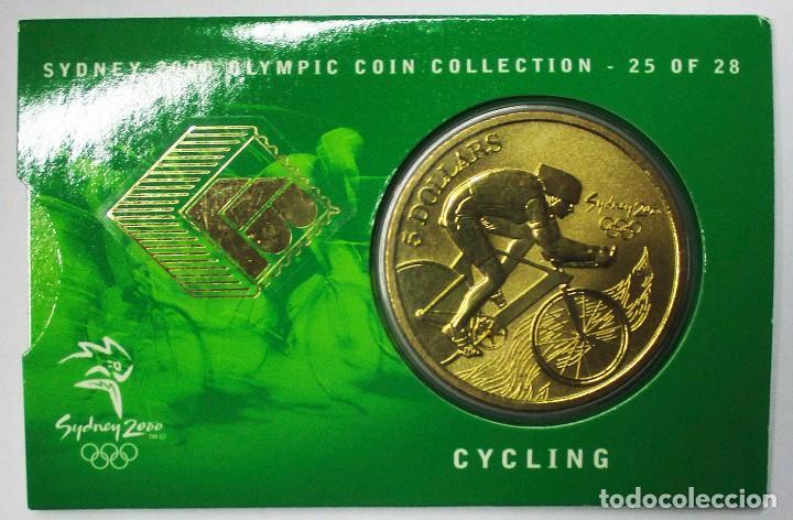AUSTRALIA 2000, 5 DOLLARS DE LAS OLIMPIADAS DE SIDNEY. CYCLING. LOTE 3698 (Numismática - Extranjeras - Oceanía)