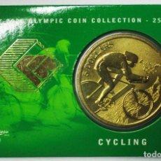 Monedas antiguas de Oceanía: AUSTRALIA 2000, 5 DOLLARS DE LAS OLIMPIADAS DE SIDNEY. CYCLING. LOTE 3698. Lote 244542820