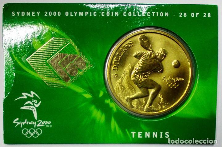 AUSTRALIA 2000, 5 DOLLARS DE LAS OLIMPIADAS DE SIDNEY. TENNIS. LOTE 3695 (Numismática - Extranjeras - Oceanía)