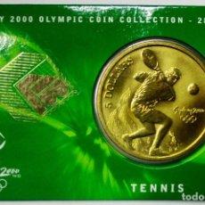 Monedas antiguas de Oceanía: AUSTRALIA 2000, 5 DOLLARS DE LAS OLIMPIADAS DE SIDNEY. TENNIS. LOTE 3695. Lote 244543320