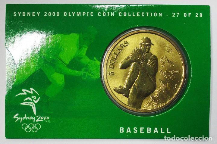 AUSTRALIA 2000, 5 DOLLARS DE LAS OLIMPIADAS DE SIDNEY. BASEBALL. LOTE 3696 (Numismática - Extranjeras - Oceanía)