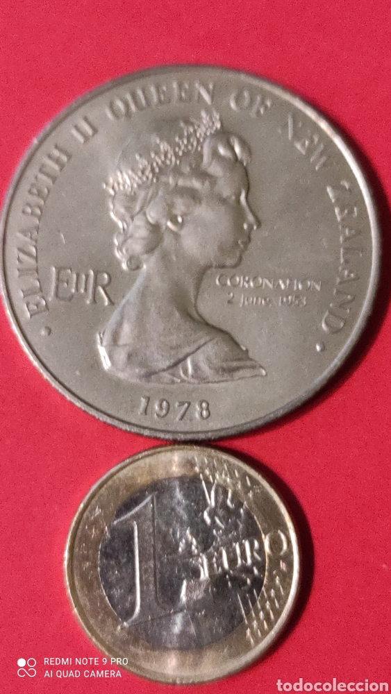 Monedas antiguas de Oceanía: Moneda Nueva Zelanda 1 dolar 1978. - Foto 2 - 244553350