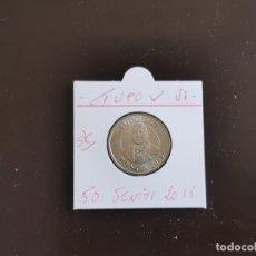 Monedas antiguas de Oceanía: TONGA 50 SENITI 2015 S/C (TUPOV VI). Lote 261998655