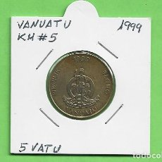 Monedas antiguas de Oceanía: VANUATU 5 VATU 1999. COBRE-ALUMINIO Y NÍQUEL. KM#5. Lote 244747700
