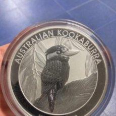 Monedas antiguas de Oceanía: 10 ONZAS DE PLATA . KOOKABURRA AUSTRALIA 10 DÓLARES. 2014. Lote 244763185