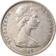 Monedas antiguas de Oceanía: MONEDA, NUEVA ZELANDA, ELIZABETH II, 5 CENTS, 1975, MBC, COBRE - NÍQUEL. Lote 245598025