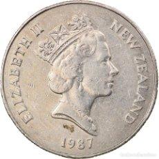 Monedas antiguas de Oceanía: MONEDA, NUEVA ZELANDA, ELIZABETH II, 50 CENTS, 1987, MBC, COBRE - NÍQUEL, KM:63. Lote 245598030