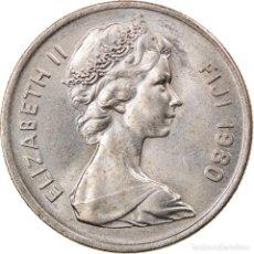 Monedas antiguas de Oceanía: MONEDA, FIJI, ELIZABETH II, 5 CENTS, 1980, EBC, COBRE - NÍQUEL, KM:29. Lote 245601730
