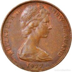 Monedas antiguas de Oceanía: MONEDA, NUEVA ZELANDA, ELIZABETH II, 2 CENTS, 1977, MBC, BRONCE, KM:32.1. Lote 245602970