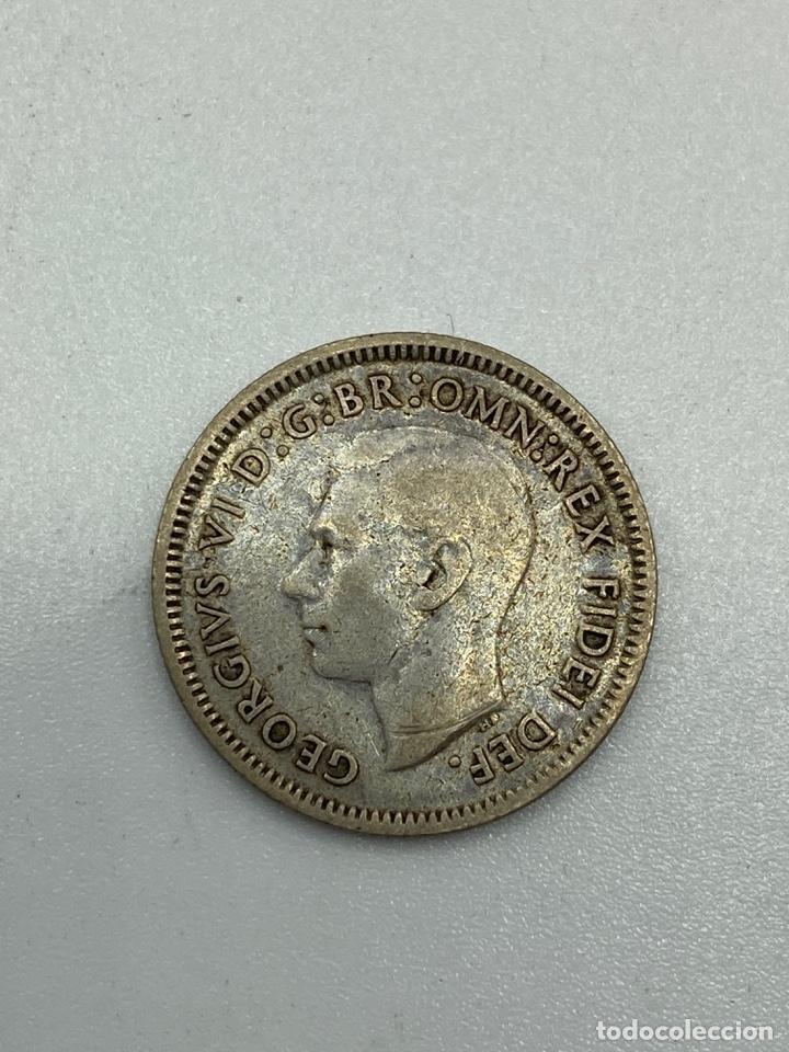 Monedas antiguas de Oceanía: MONEDA. AUSTRALIA. GORGE VI. 6 PENCE - PENIQUES. PLATA. 1950. VER FOTOS - Foto 2 - 246467190
