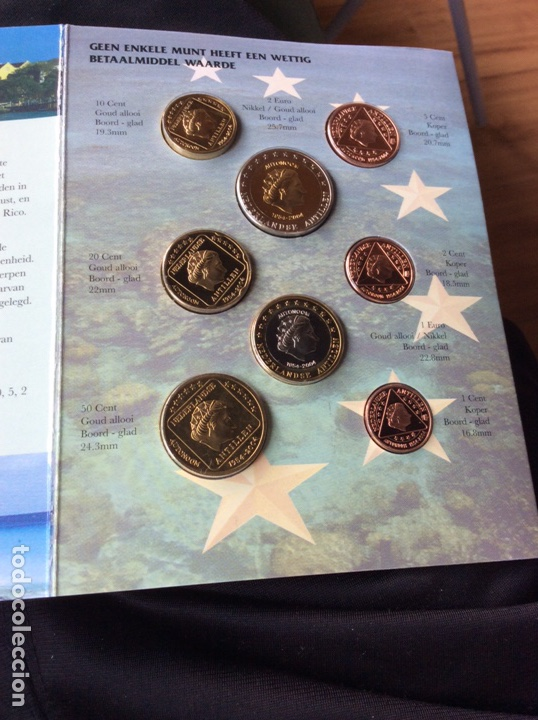 Monedas antiguas de Oceanía: Neerlandés antillen 8 monedas pre euros 2004 - Foto 2 - 251164695