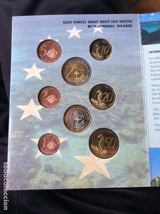 Monedas antiguas de Oceanía: Neerlandés antillen 8 monedas pre euros 2004 - Foto 3 - 251164695