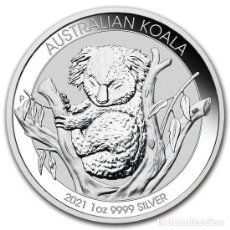 Monedas antiguas de Oceanía: MONEDA KOALA 2021 1 ONZA TROY PLATA EN CAPSULA ORIGINAL. Lote 269319573