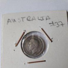 Monedas antiguas de Oceanía: AUSTRALIA 3 PENCE 1943 PLATA KM#37 MUY BONITA. Lote 254269565