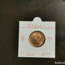 Monedas antiguas de Oceanía: SAMOA 2 SENE 2000 S/C KM=122 (BRONCE). Lote 256077000