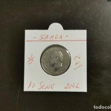 Monedas antiguas de Oceanía: SAMOA 10 SENE 2002 S/C KM=132 (CUPRONIQUEL). Lote 256077415