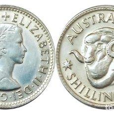 Monedas antiguas de Oceanía: AUSTRALIA SHILLING 1961, PLATA, CARNERO, SC. Lote 257697720