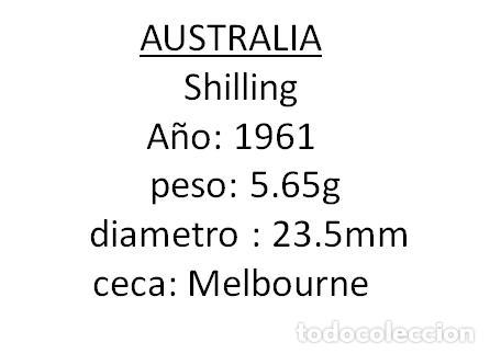 Monedas antiguas de Oceanía: AUSTRALIA SHILLING 1961, PLATA, CARNERO, SC - Foto 2 - 257697720