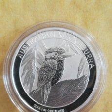 Monedas antiguas de Oceanía: MONEDA 1 DOLLAR AUSTRALIA 2014 KOOKABURRA 1 OZ 31 GR PLATA 999. Lote 257838600