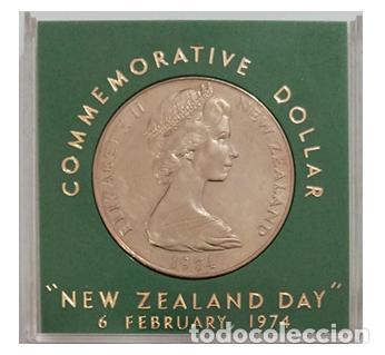 NUEVA ZELANDA 1 DOLAR 1974, NEW ZEALAND DAY, EN ESTUCHE (Numismática - Extranjeras - Oceanía)