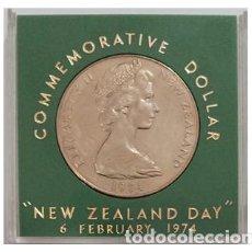 Monedas antiguas de Oceanía: NUEVA ZELANDA 1 DOLAR 1974, NEW ZEALAND DAY, EN ESTUCHE. Lote 259269265