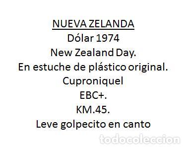 Monedas antiguas de Oceanía: NUEVA ZELANDA 1 DOLAR 1974, NEW ZEALAND DAY, EN ESTUCHE - Foto 3 - 259269265