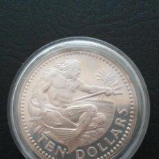 Monedas antiguas de Oceanía: MONEDA 10 DOLLARS BARBADOS 1973 PLATA 925, 37,9 GR. Lote 259889970