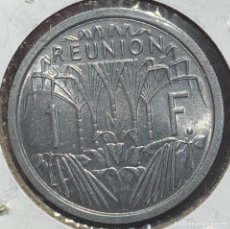 Monedas antiguas de Oceanía: REUNIÓN COLONIA FRANCESA KM6 1 FRANC 1948 UNC. Lote 260299195