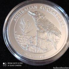 Monedas antiguas de Oceanía: ONZA DE PLATA AUSTRALIANA SIN CIRCULAR,UN DÓLAR KOOKABURRA (AVE AUSTRAL). Lote 261553890