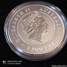 Monedas antiguas de Oceanía: UNA ONZA DE PLATA AUSTRALIANA, UN DÓLAR DE PLATA 2016 SIN CIRCULAR.. Lote 261957880
